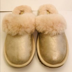 NEW UGG Cozy II Metallic Slipper Shoes